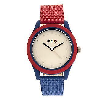 Crayo Pleasant Unisex horloge-rood/blauw