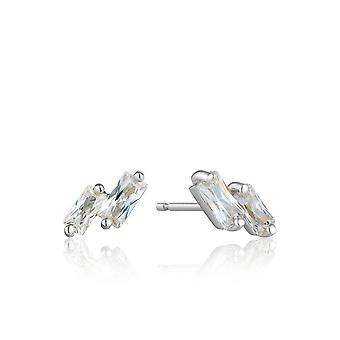 Ania Haie Sterling Silver Rhodium Plated Glow Stud Earrings E018-07H