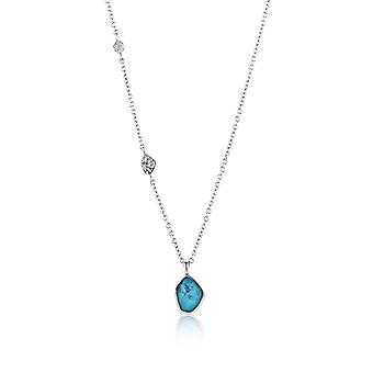 Ania Haie Silver Rhodium Plated Turquoise Pendant Necklace N014-02H