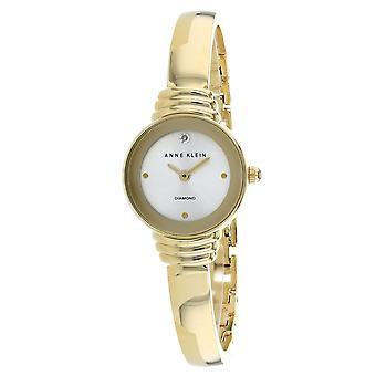 Anne Klein Women's Classic Gold Dial Watch - AK-2558CHGB