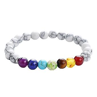 Chakra Bracelet with marble-inspired beads