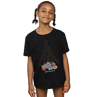 Friends Girls Christmas Tree Lights T-Shirt