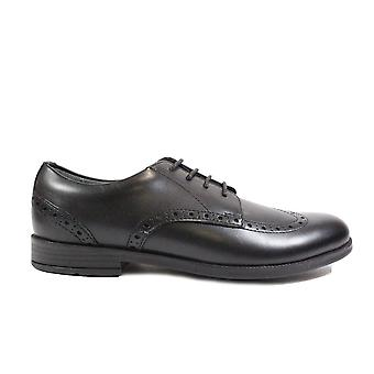 Startrite brogue Senior svart läder flickor Lace up brogue skolan skor