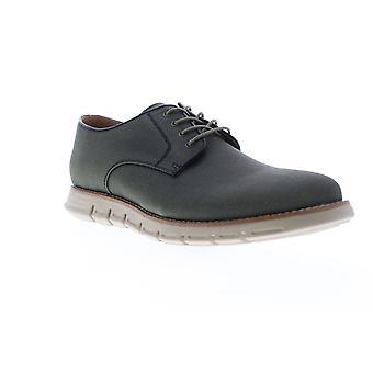 GBX Hurst  Mens Green Canvas Low Top Lace Up Plain Toe Oxfords Shoes