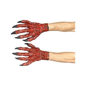Руки дьявола, латекс, красный