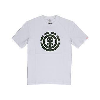 O ícone do leopardo do elemento enche o t-shirt curto da luva no branco ótico