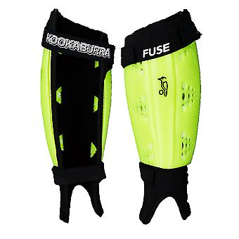 Kookaburra 2018 Fuse Field Hockey Shin Guard Pad Protection Fluorescent Yellow