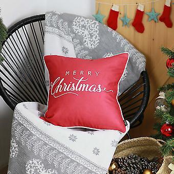 """18 """"x18"""" valkoinen lainaus painettu joulu koriste heittää tyynyn päällinen"""