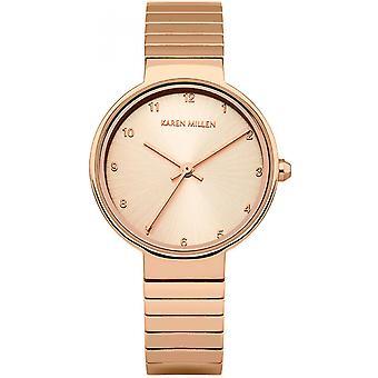 Karen Millen KM131RGM - watch steel gold Rose wife