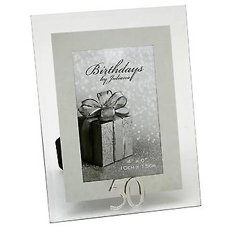 Impressions By Juliana 50th Birthday Glass And Mirror 4 X 6 Photo Frame
