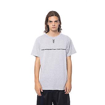 Short-sleeved grey Nicolo Tonetto men's T-shirt
