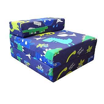Crianças solteiras dobram para fora Z cadeira de cama dinossauros no escuro