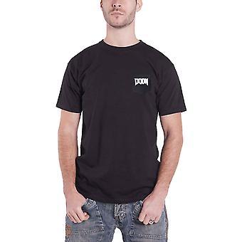 Doom T Shirt Uretro Helmet Icon logo new Official Gamer Mens Black