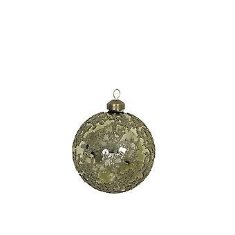 Light & Living Christmas Bauble 10x10cm Cruz Glass Light Green