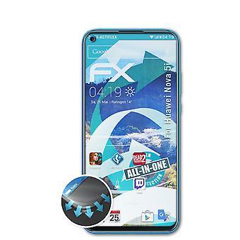 atFoliX 3x Écran protecteur compatible avec Huawei Nova 5i Protecteur d'écran clair&flexible