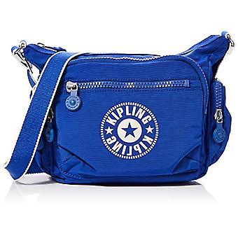 キプリング ギャビー S 青い女性のクロスボディ バッグ (レーザー ブルー) 29x22x16.5 cm
