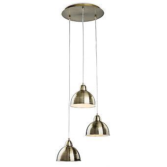 Firstlight Plummet Bronze Triple Cascade Metal Pendant