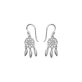 Eternity Sterling Silver Cubic Zirconia Dreamcatcher Drop Earrings