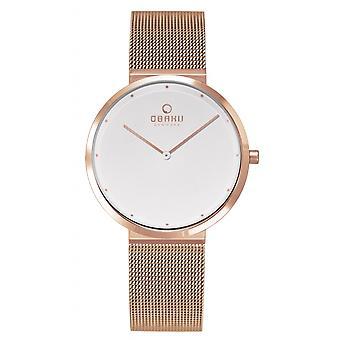 Obaku Papir Lille Rose Women's Wristwatch V230LXVWMV