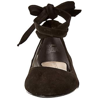 Kenneth Cole New York Womens Wilhelmina Leather Open Toe Ankle Wrap Ballet Fl...