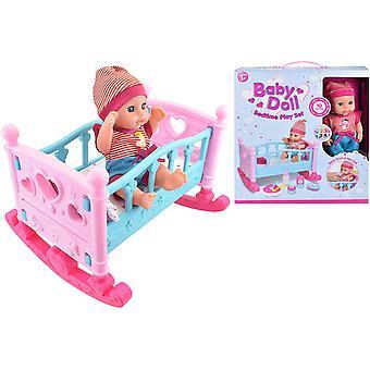 Baby Doll Bedtime Play Set avec Rocking Cot et Dolls Accessoires