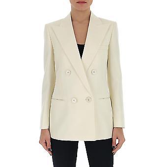 Saint Laurent 605373y690u9601 Damen's Weiße Wolle Blazer