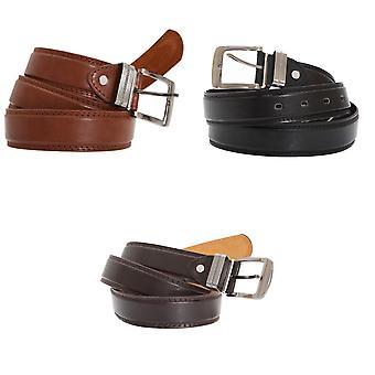 Lesní pásy mens 1,25 palec s koženým pásovým pásem