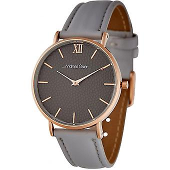 Watch Andreas Osten AO-257 - Grey Leather Watch Bo tier Dor Rose Mixed