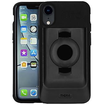Fitclic Neo Semi-rigid Case for iPhone XR Magnetic and Mechanical-Tigra, Black