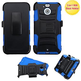 ASMYNA Advanced Armor Stand Case with Holster pour HTC Bolt - Noir/Bleu