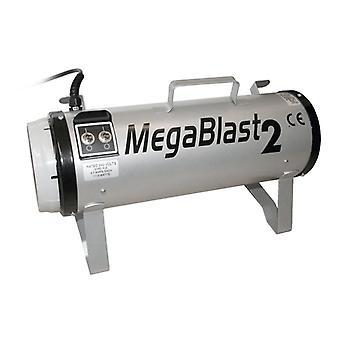 Megablast 2 Powerful Pet Grooming Blaster with 3 Speed Settings, Silver