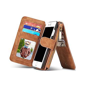 Case For Iphone Se (2020) / IPhone 8 / IPhone 7 Brown Multifunction Portfolio