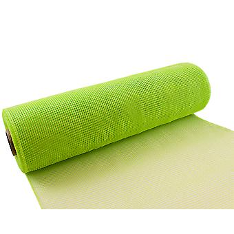 Lime Green 25cm x 9.1m Deco Mesh Roll for Wreath Making, Floristry & Crafts