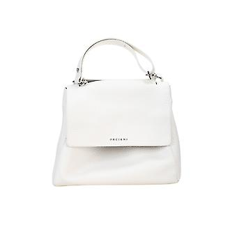 Orciani Bt2006softbwht Women's White Leather Handbag
