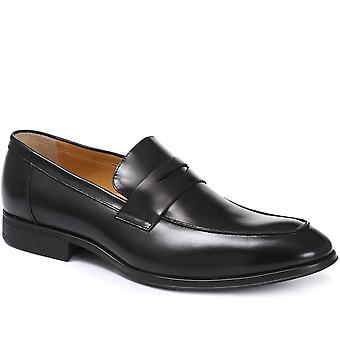 Steptronic Mens Frost 2 Leather Wide Fit Penny Loafers