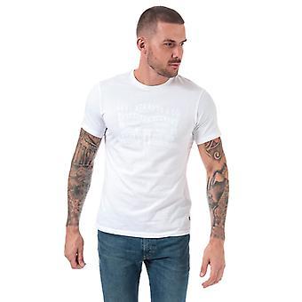 Mænd's Levis 2 Horse Graphic T-shirt i hvid