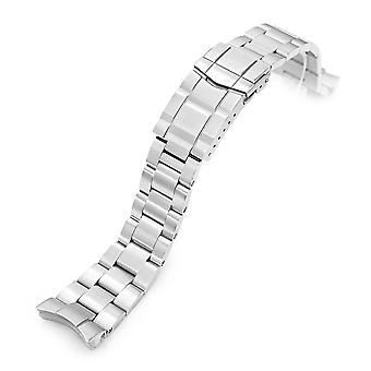 כתפיות צמיד שעונים 22mm סופר 3d צדפה 316l פלדת אל-חלד שעון הפלדה האוריינט טריטון, צוללן מוברש אבזם