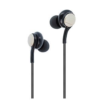 Earphones Jack 3.5mm In-ear Remote Control Microphone - Gold / Black