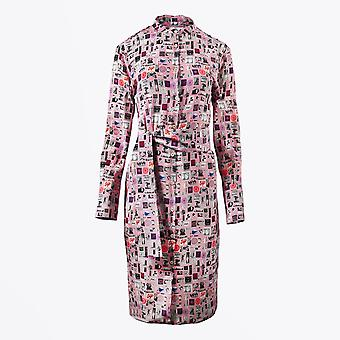 PS Paul Smith  - Motif Printed Belted Dress - Pink/Multi