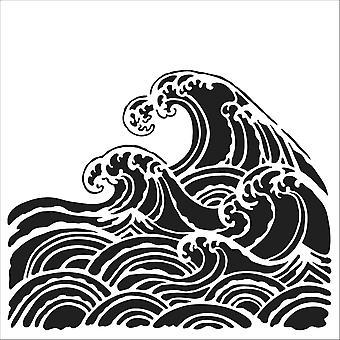 The Crafter's Workshop Wave 6x6 Inch Stencil