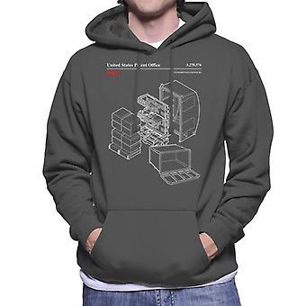 NASA Standard Payload Racks Blueprint Men es Hooded Sweatshirt