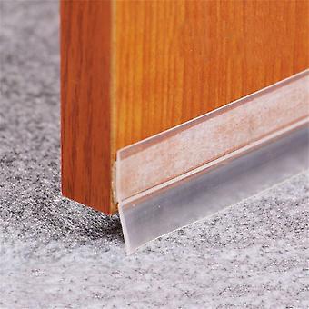Käytännöllinen läpinäkyvä tuulenpitävä silikoni lattiatanko oven tiivistysnauha