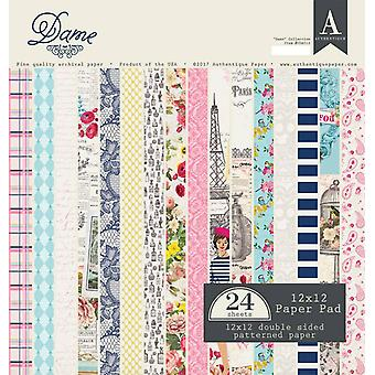 Authentique Dame 12x12 pulgadas de papel Pad