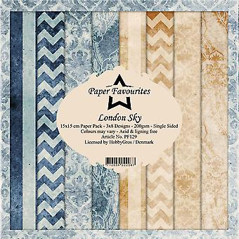 Paper Favourites London Sky 6x6 Inch Paper Pack