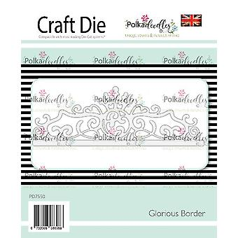 Polkdoodles Glorious Border Die