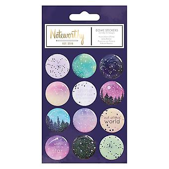 Noteworthy Constellations Dome Stickers (12pcs) (NOT 157106)