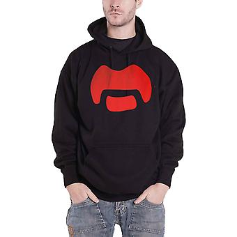 Frank Zappa Hoodie Moustache Logo new Official Mens Black Pullover