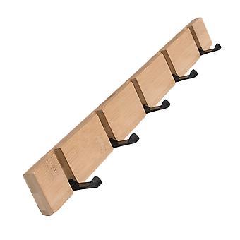 Dormitorio abrigo rack armario de madera ganchos de madera color 5 ganchos