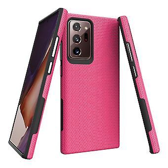 Samsung Galaxy Note 20 Ultra Armour tapauksessa kova suojakansi vaaleanpunainen