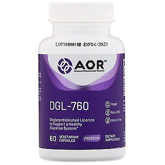 Advanced Orthomolecular Research AOR, DGL-760, 60 Capsules végétariennes